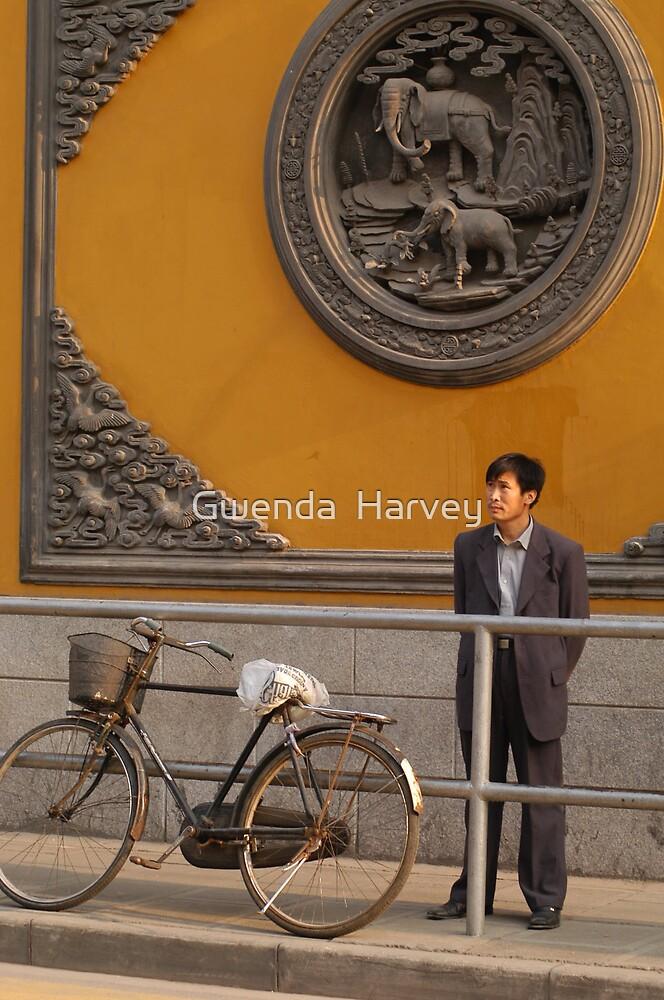 Aisan #3418 Orange Wall by Gwenda  Harvey