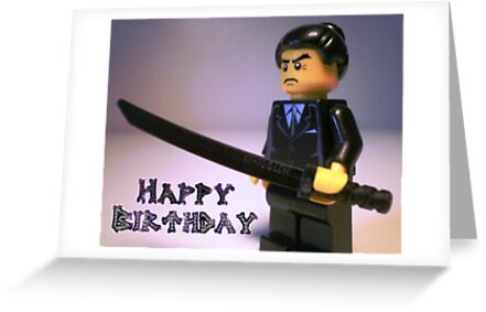 Happy Birthday Greeting Card Japanese Yakuza Gokud Gangster – Japanese Happy Birthday Card