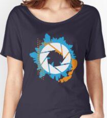 Portal - Abstract Aperture Logo Women's Relaxed Fit T-Shirt