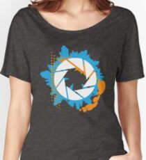 Portal - Abstract Aperture Logo Women's Relaxed Fit T-Shirt
