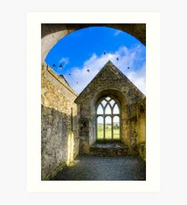 Magical Irish Ruins - Sacred Ireland in Rural County Galway Art Print