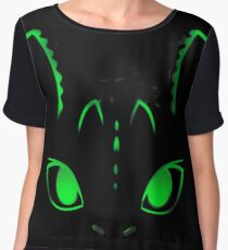 Neon Toothless  Women's Chiffon Top