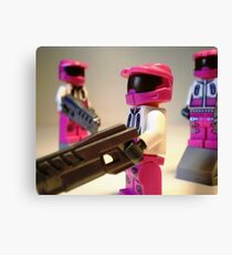 Halo Wars Pink Spartan Soldier, Custom Minifigure Canvas Print