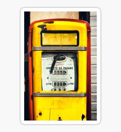 Old Italian Gas pump Sticker