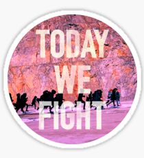 Today We Fight (Circle) - Bangtan BTS Sticker