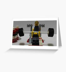 Lego Gym Workout Greeting Card