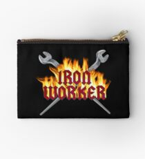 Iron Worker Flaming Spud Wrenches Studio Pouch