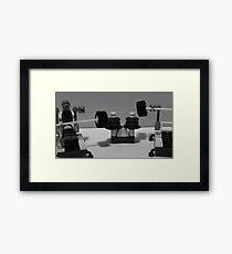 Lego gym Black and white Framed Print