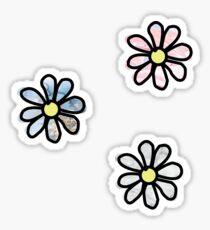 Flower - 3 Pack Marble 1 Sticker