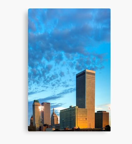 Spotted Clouds over The Tulsa Skyline Canvas Print