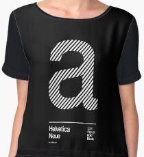 a .... Helvetica Neue Chiffon Top
