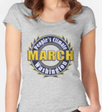 People's Climate Change March on Washington Justice 2017 Women's Fitted Scoop T-Shirt