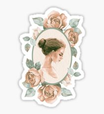 Romantic girl 3 Sticker