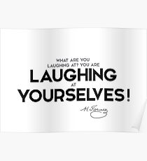 laughing at yourselves - nikolai gogol Poster