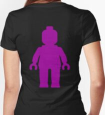 Minifig [Large Purple]  Women's Fitted V-Neck T-Shirt