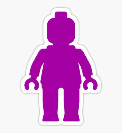 Minifig [Large Purple]  Sticker
