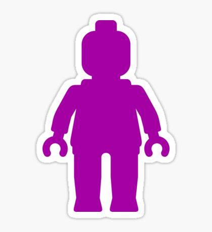 Minifig [Large Purple]  Sticker