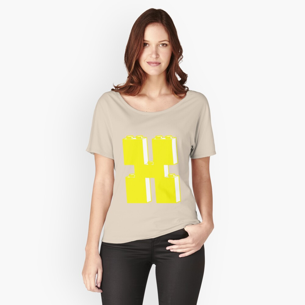 THE LETTER X by Customize My Minifig Women's Relaxed Fit T-Shirt Front