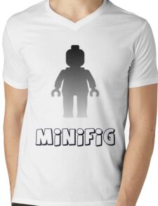 Minifig [Silver] Mens V-Neck T-Shirt
