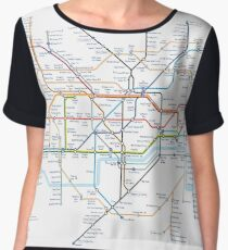 London Underground Tube Map of Anagrams Chiffon Top