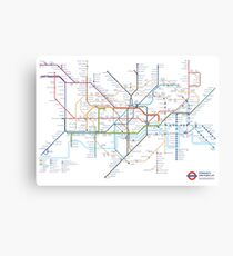 London Underground Tube Map of Anagrams Canvas Print