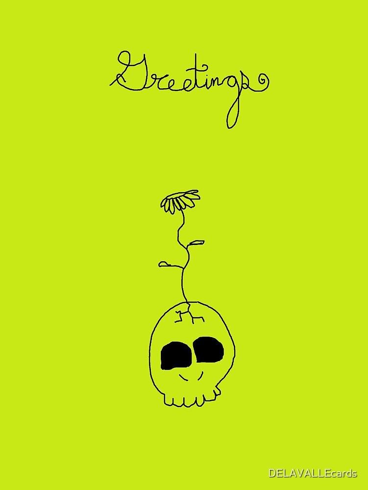 Green Skull by DELAVALLEcards