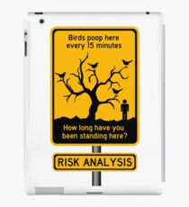 funny risk iPad Case/Skin