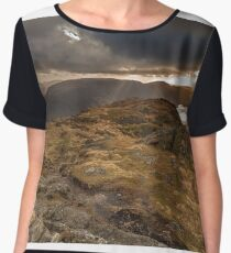 Sun rays light the way to Wastwater English Lake District Women's Chiffon Top