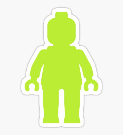 Minifig [Large Lime Green]  Sticker