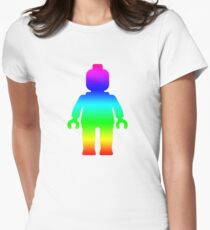 Minifig [Rainbow 1]  Women's Fitted T-Shirt