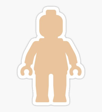 Minifig [Large Flesh Pink] Sticker