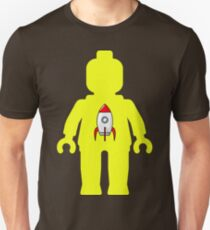 Minifig with Rocket Ship  T-Shirt