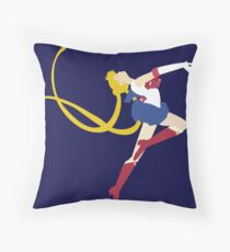 moon embrace Throw Pillow