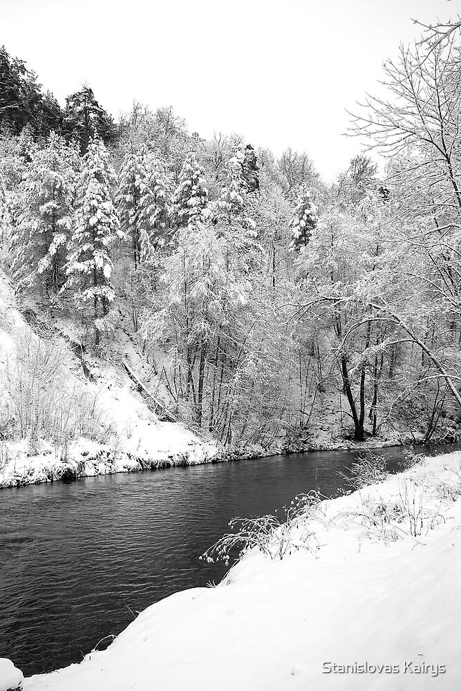 Winter landscape by Stanislovas Kairys