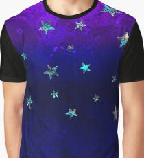 Watercolor galaxy. Sparkly flame illustration with sparkly stars Graphic T-Shirt