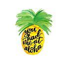 You had me at Aloha Pineapple by cococreatess