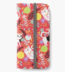 My Little White Cat In Red iPhone Wallet/Case/Skin