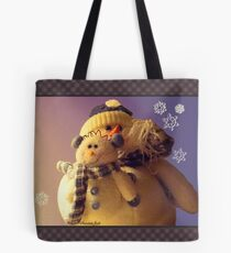 Snowman with His Snowbaby Tote Bag