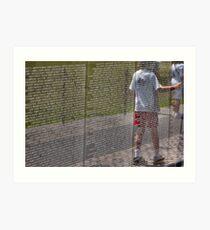 Vietnam War Memorial Art Print