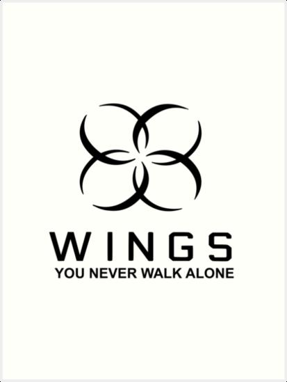 bts wings tour art prints by bballcourt redbubble