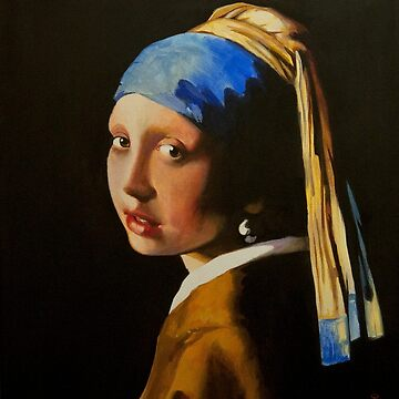 Acrylic Study of Vermeer's Girl with the Pearl Earring by szymczuk