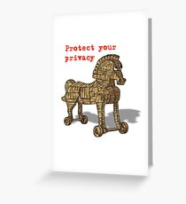 Protect Privacy Greeting Card