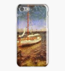 Old vintage wooden sail boat iPhone Case/Skin