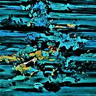 Clouds over Turbulent Waters - Abstract with Rice Paper by EloiseArt