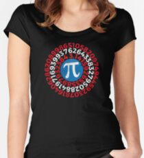 Pi Day 2017 Funny Pi Superhero Style Women's Fitted Scoop T-Shirt