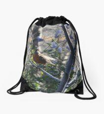 Red Robin Drawstring Bag