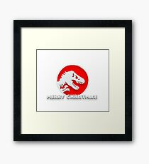 Jurassic Merry Christmas Framed Print