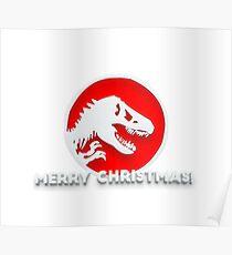 Jurassic Merry Christmas Poster