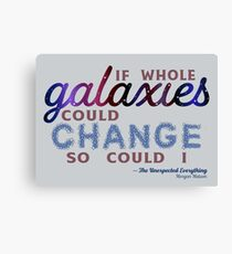 If Whole Galaxies Could Change... Canvas Print