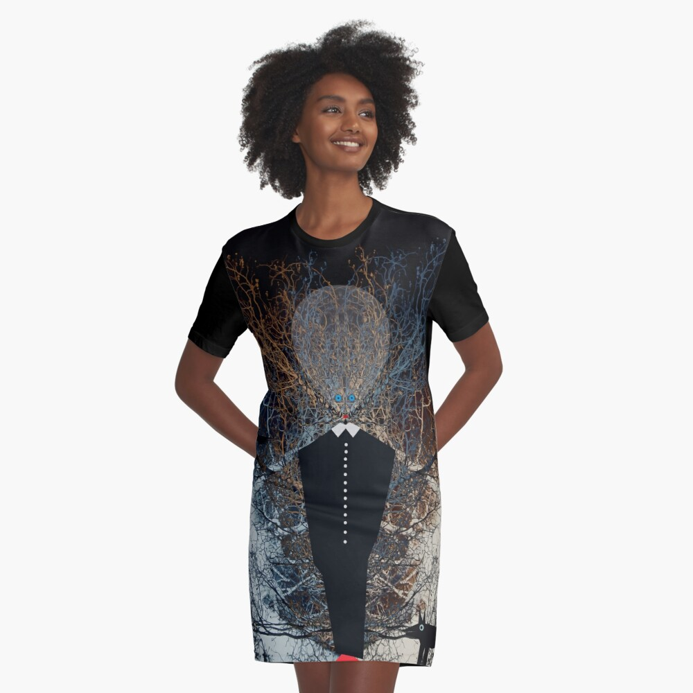 Watchman Graphic T-Shirt Dress Front